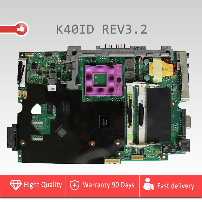 YTAI K40ID REV3.2 mainboard for ASUS K40I K40IE X4D K40IE X8Al K40ID laptop motherboard DDR3 4 Memory video card mainboard