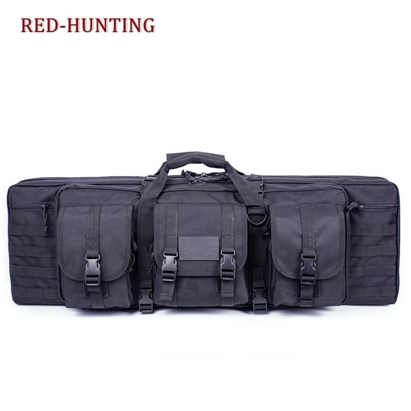 Tactical 36 Black Padded Double Carbine Rifle Gun Case Bag