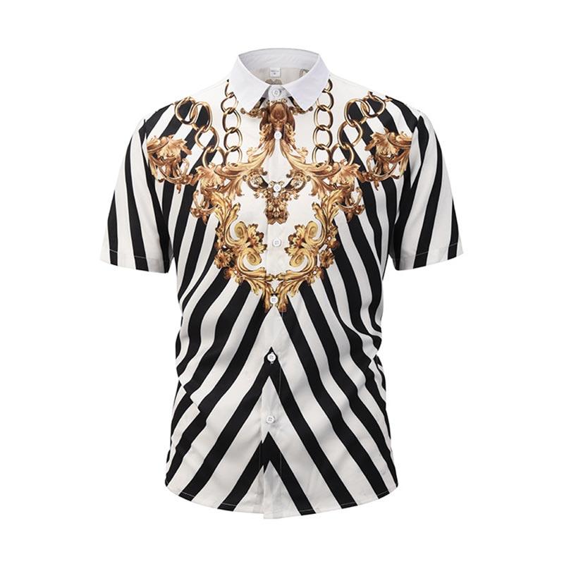 2019 Neuestes Design Headbook Europa Größe 3d Shirts Männer Kurzarm Shirts Digital Print Raum Galaxy Rot Casual Tops Strand Shirts Ce901002 Bequem Und Einfach Zu Tragen