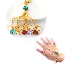 HOT Movie Jewelry The Avengers Infinity War Bracelets Thanos Crystal set finger bracelet Hiphop style Men
