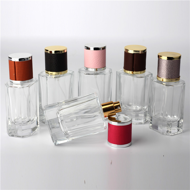 New Kind 50ml Clear Cap Clear Glass Spray Refillable Perfume Bottles Glass Automizer Empty Cosmetic Container For Travel 10ml spray glass empty bottles 50pcs cylindrical perfume bottle cosmetic packaging container