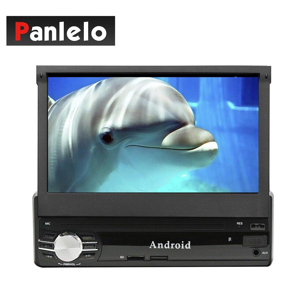 Panlelo T1 1 Din Android autoradio 1 GB/2 GB RAM 16 GB ROM unité de tête 7 pouces écran tactile fente pour carte SD Port USB caméra DVR entrée