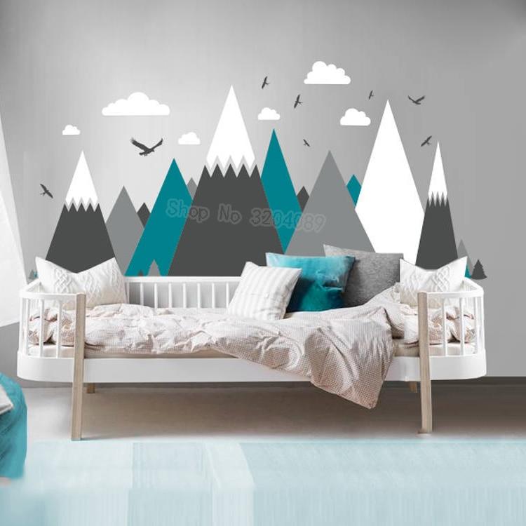 Cute Cloud Wall Decal Rain Cloud Face Wall Sticker For Kids Room ...