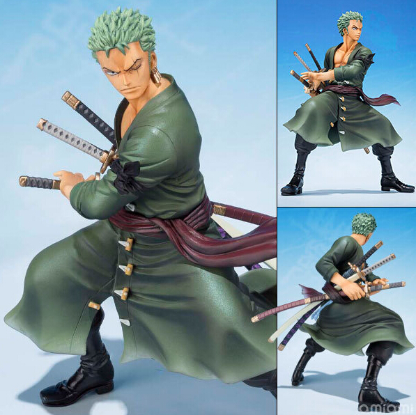 One Piece Figure Roronoa Zoro 5th Anniversery Action Figure 15CM Roronoa Zoro PVC Cartoon Figurine One Piece Zoroo Toys OP15 brand new portrait of pirates one piece roronoa zoro 23cm pvc cool cartoon action figure model toy for gift kids free shipping