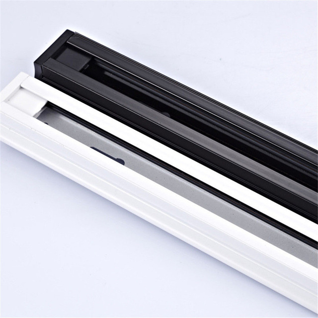 Us 56 28 33 Off 1m Led Track Rail Aluminum Lighting Fixture 1 Meter Rails Light Parts 2 Wire Phase In