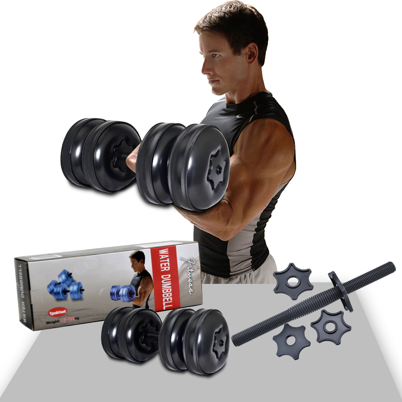 Free shipping high quality water dumbbell weight adjustable dumbbellfor fitness(a pair) adjustable water dumbbell weights for fitness and bodybuilding equitment high quality