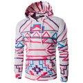 Хип-хоп 3D Полосатый печатные толстовки 2016 мода Толстовки Пуловер кофты случайных sudaderas hombre фитнес-с капюшоном куртки пальто