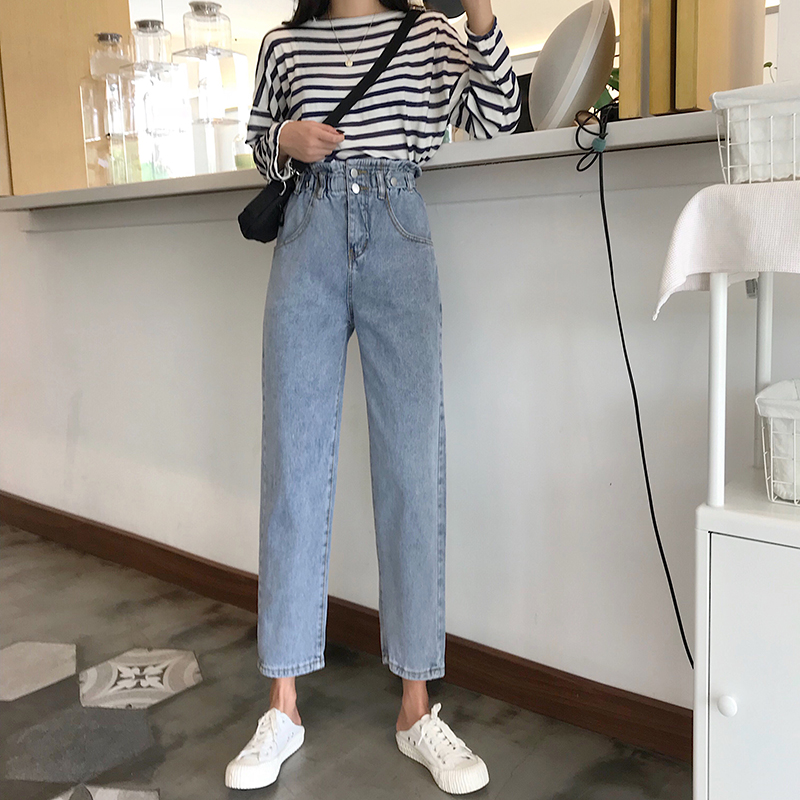 Cheap Wholesale 2019 New Spring Summer Autumn Hot Selling Women's Fashion Casual  Denim Pants FP2731