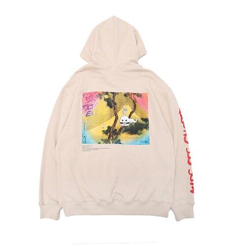 Kanye West KIDS SEE GHOSTS Hoodie Men Women Pullover Sweatshirts Hip Hip Hoodies