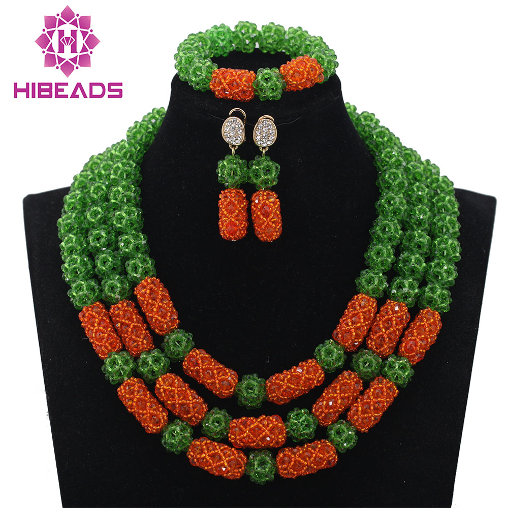 Crystal Party Indian Bridal Gift Jewellery Set Nigerian Green Bead Balls Wedding Jewelry Set Hot 2017 Free ShippingABL922Crystal Party Indian Bridal Gift Jewellery Set Nigerian Green Bead Balls Wedding Jewelry Set Hot 2017 Free ShippingABL922