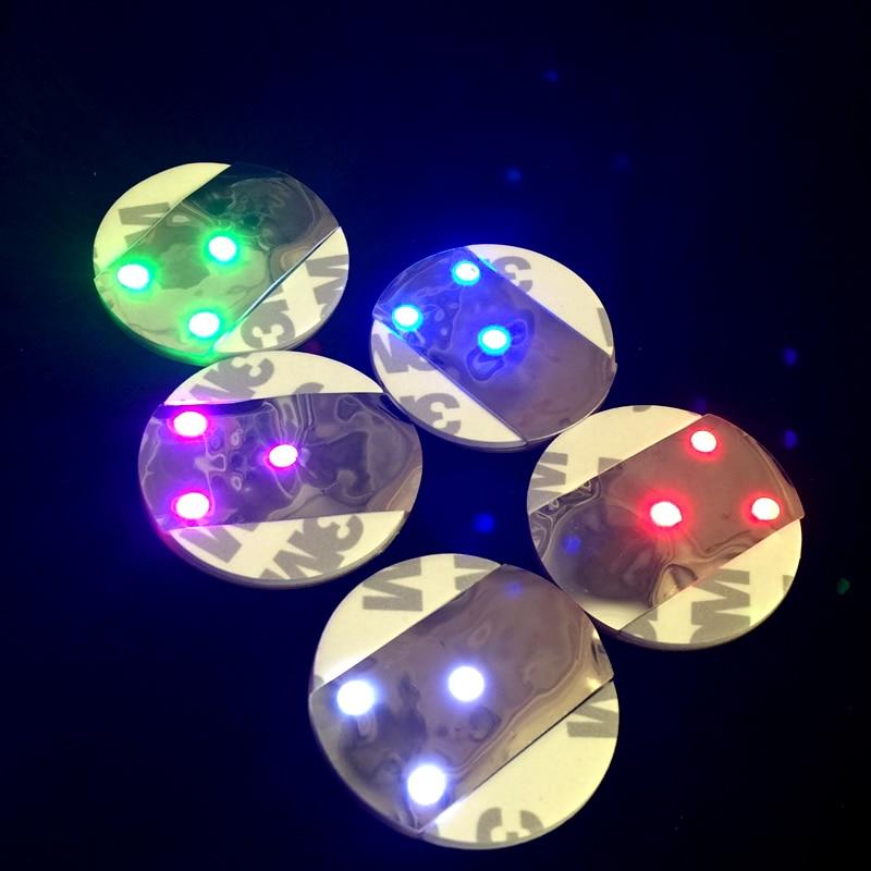 100 stk Super Bright White Light Mini LED Bottle Coaster 3M Sticker - Ferie belysning - Bilde 6