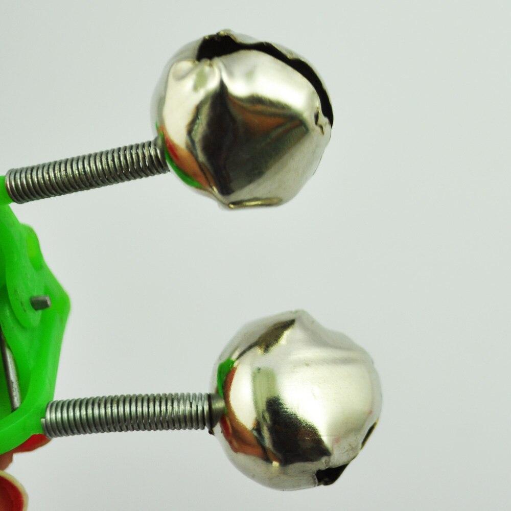 Good deal 3 Pcs Bite Alarm Fishing Rod Pole Twin Ring Bells w Clip Green