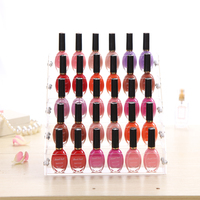 New Style 1 Pcs Lot Transparent Acrylic 5 Layer Nail Polish Rack Jewelry Stand Display Lipstick