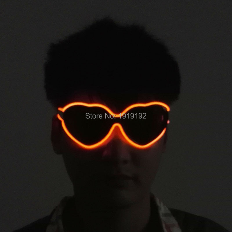 heart-sharped Flashing El Led Glasses Luminous Party Lighting Colorful Glowing Classic Toys for Dj Bright Light Holiday Gift