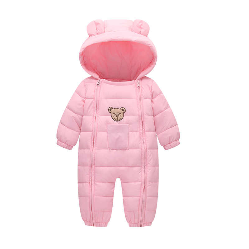 7b68cf55605 ... BibiCola Newborn Rompers Baby Girls Winter Down Parkas Clothes Toddler  Infant Boys Jumpsuit Clothing for Bebe ...