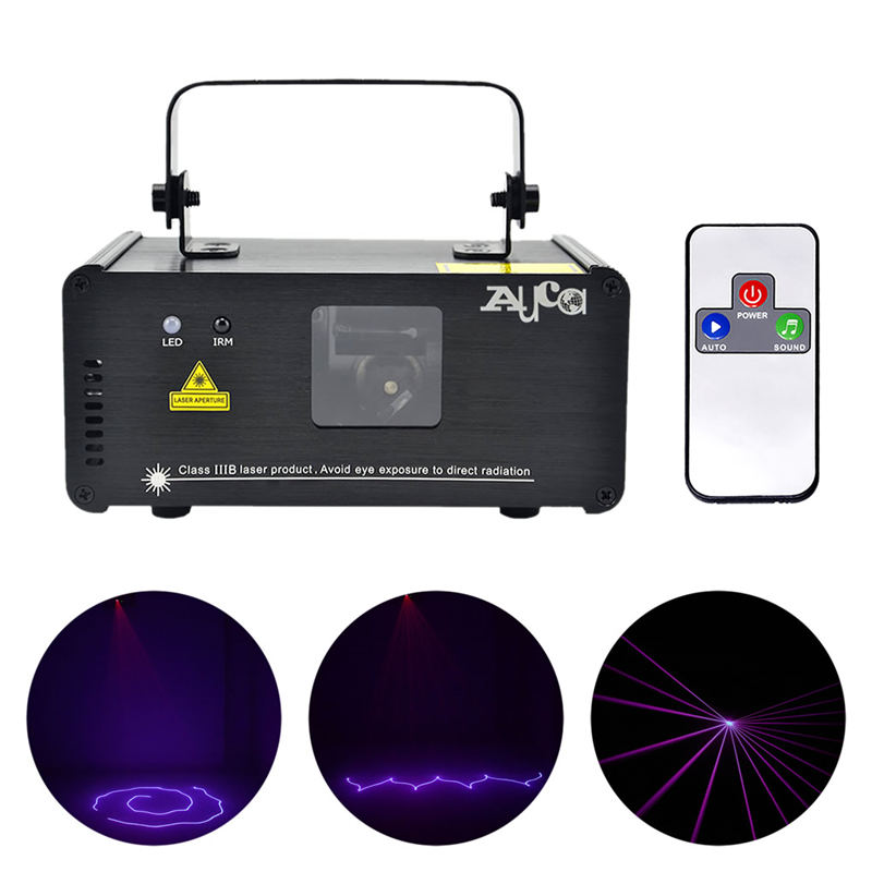 AUCD Mini Portable IR Remote 8 CH DMX Purple 150mW Laser Scanner Stage Lighting PRO DJ Party LED Show Projector Lights DM-V150 chauvet dj ch 31 portable trussing