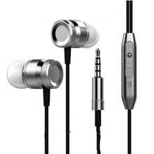 New Bass Universal Running Headphones Metal In-ear Headphone In-line control Earphone with Microphone for MP3 Phone Computer