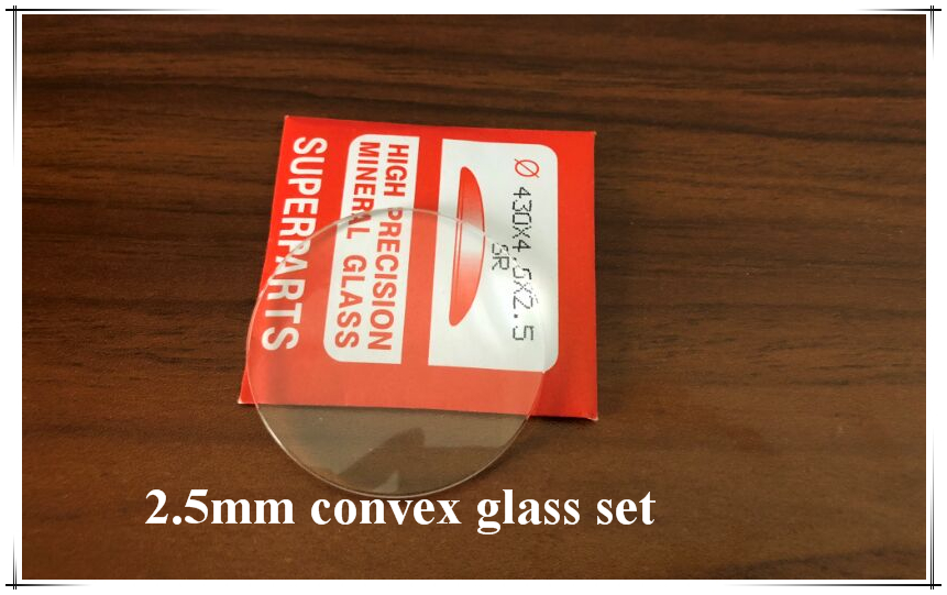 Free Shipping 20 PCs 2 5mm Thick Single Dome Round Glass Kit for Watch Repair Select