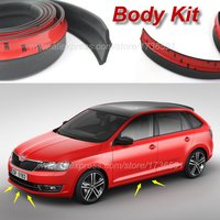 Bumper Lip Deflector For Skoda Rapid a5 a7 YETI Superb Citigo Fabia Octavia 2 CitiJet MissionL Spoiler Skirt Body Kit Strip