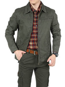 AFS ZDJP Spring Mens Jacket Military Coat Male Cotton