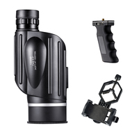 Telescope Monocular for Hunting 13x50 Waterproof Optics for Kids and Adults with Case Handle Phone Adapter BNISE