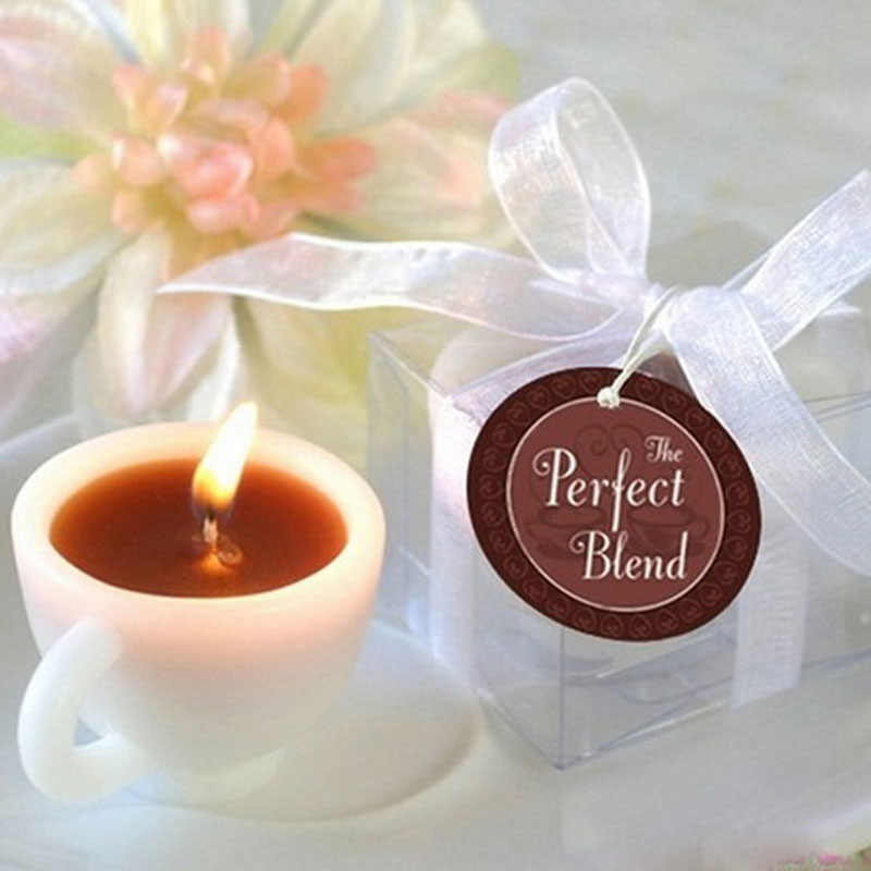 Hot Mini Convenient Coffee Cup Scented Wax Wedding Beautiful Event Marriage Anniversary Tealight Votive Candle Holder Supplies