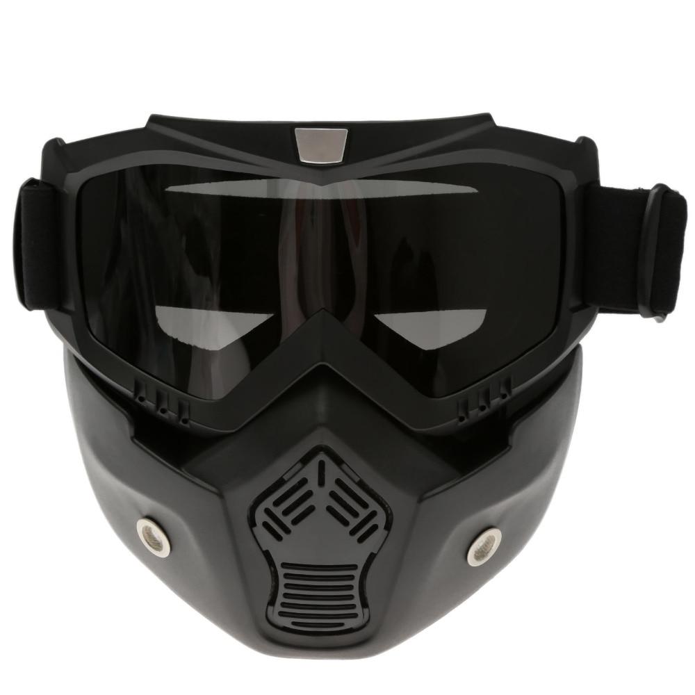 Motocross Hjälm Glasögon Avtagbar Mask Dubbel Lins Anti-dimma - Motorcykel tillbehör och delar