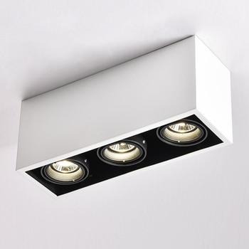 LED Ceiling Lights spot LED lamps illumination GU10 3*5W led bulbs rectangle ceiling light lamp decorations Lighting for living