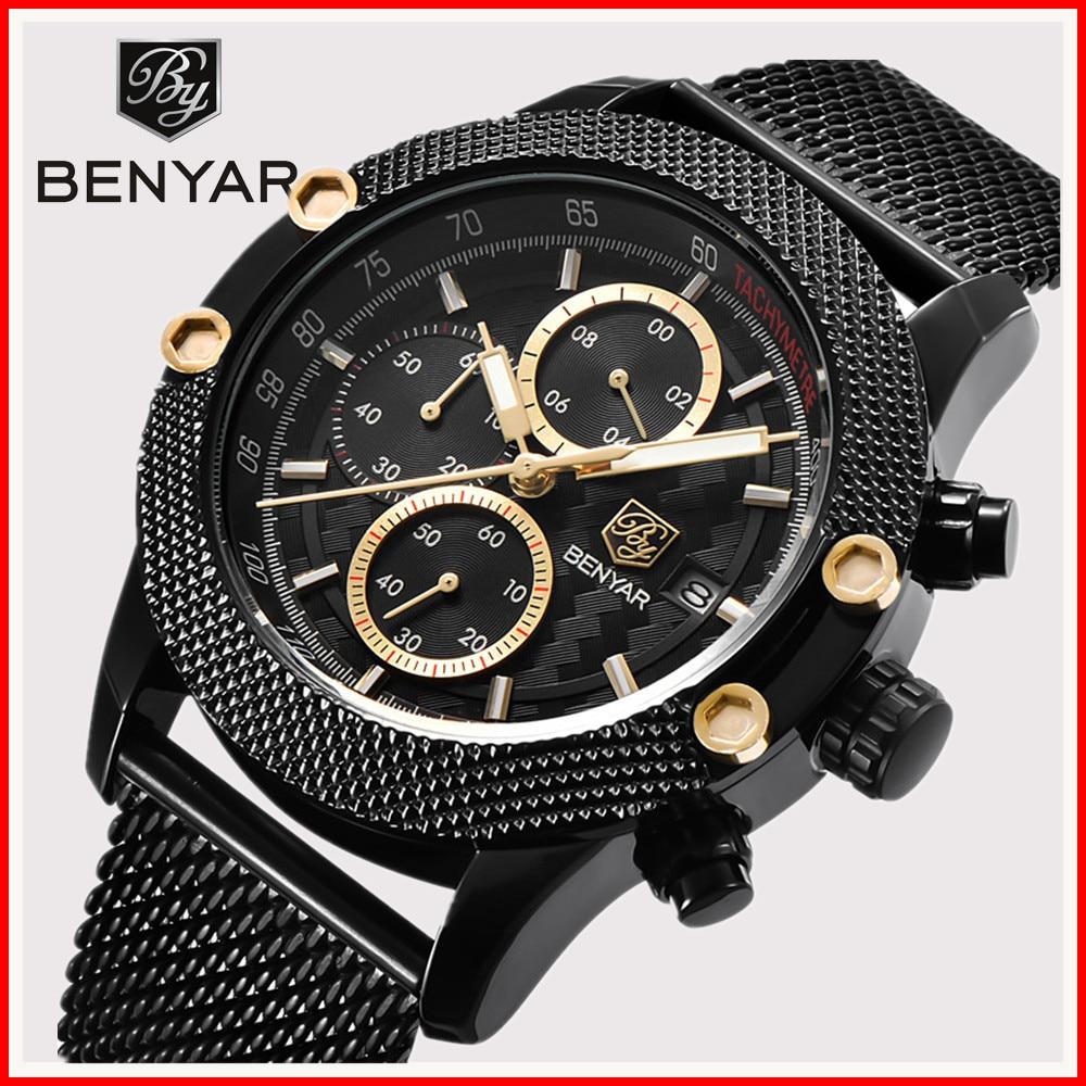 montre homme 2019 benyar brand watches reloj hombre men. Black Bedroom Furniture Sets. Home Design Ideas