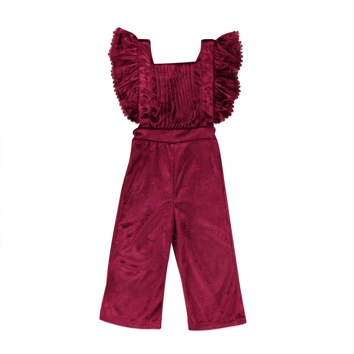 Gewijd Fashion 2017 Nieuwe Grote Meisjes Vlinder Mouw Pleuche Overalls Zomer Kinderen Cowboy Strap Jumpsuit Kids Overalls Maat 2-6 T