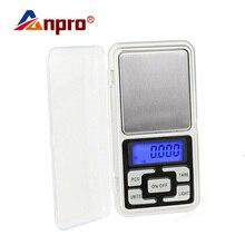 Anpro 100 г/200 г/300 г/500 г x 0,01 г/0,1 г мини карманные цифровые весы из нержавеющей стали ювелирные весы грамм электронные весы