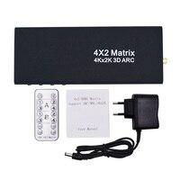 4x2 HDMI матричный HDMI Коммутатор HDMI Splitter Поддержка ARC 4 К x 2 К сплиттер