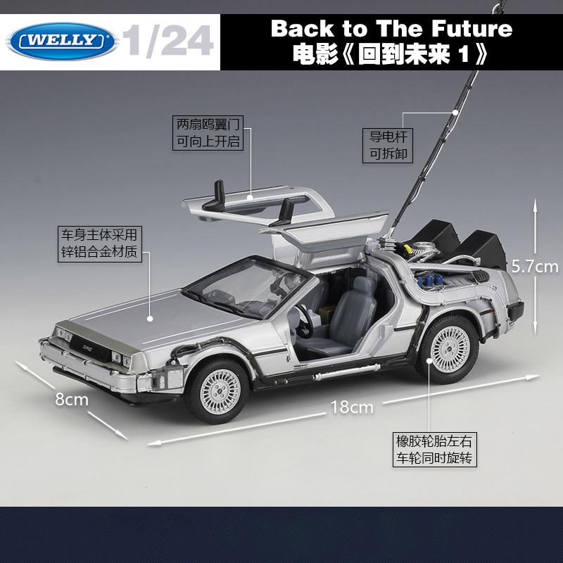Välkommen 1:24 Diecast Skalmodell Bilfilm Tillbaka till framtiden - Bilar och fordon - Foto 2