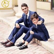 Blazer Boys Suits Weddings Men SuitsVestiti Bambina Cerimonia Garcon Costume Homme Jaqueta Masculina Father Son Matching Clothes