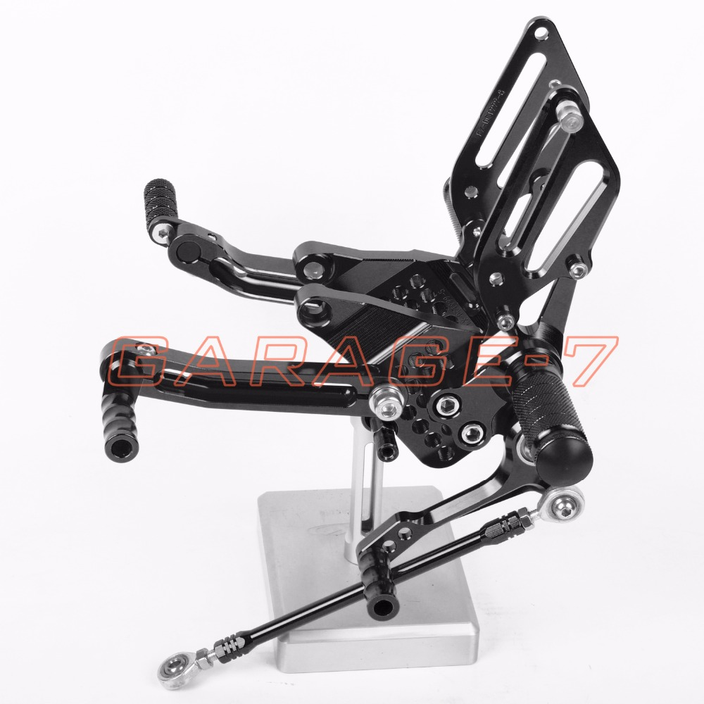 CNC Rearsets Adjustable Rear set Foot pegs For Ducati 999 949 749 All Years Black One Pair Of High-quality Motorcycle