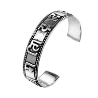 2018 New Fashion Hot Dot Totem Open Cuff Bangle Stainless Steel Personality Accessories Men Women Girls Gift STB041