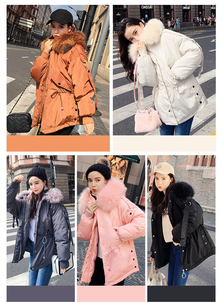 Jacket jacket warm Parker hooded Slim women's S down thick large size 5color maternity coat high fashion