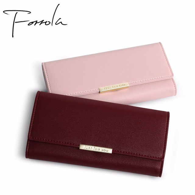 New Women Fashion Leather Hasp Tri-Folds Wallet Portable Multifunction Long Change Purse Hot Female Coin Zipper Clutch For Girl
