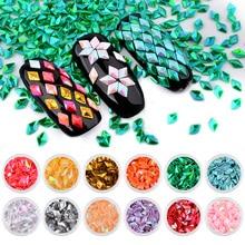 12 Boxes Mermaid Unicorn Diamond Nail Glitter Flakes Sequins DIY Tips Manicure Accessories Art Decoration Set