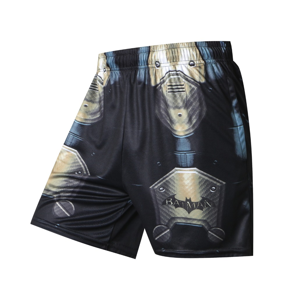New Style 2018 Solid Men's Shorts Summer Beach Shorts Men 3D Batman Spiderman Superman Casual Male Shorts Homme Brand Trousers