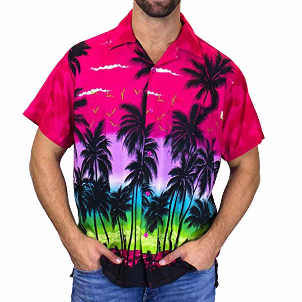 アロハシャツメンズシャツ新夏スリムフィット半袖花シャツドレスメンズ服トレンドプラスサイズメンズカジュアルビーチ