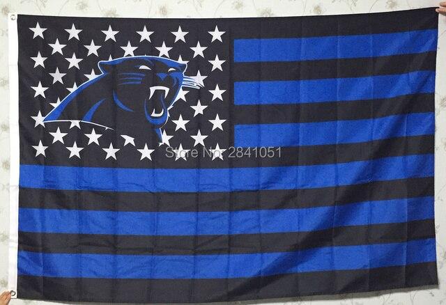 carolina panthers garden flag. Carolina Panthers USA Star And Stripe Flag 3X5 Custom Any Garden