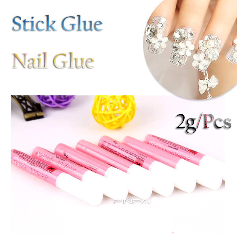 5pcs X 2g DIY Nail Glue Art Tips Sticker Professional Acrylic Fast Dry Decoration Beauty Rhinestones Screen Mini Liquid Glue
