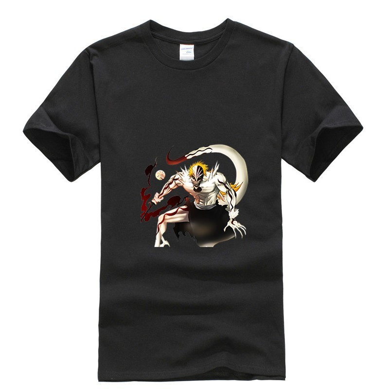 2019 new T shirt Round neck Kurosaki Ichigo bleach Japan Anime Cartoon Fashion Summer dress men tee street cos play Retro in T Shirts from Men 39 s Clothing