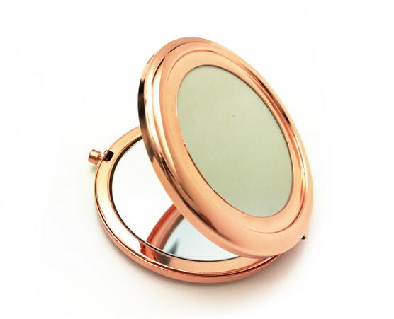 Ronde Spiegel Metaal : Mini draagbare dubbele kanten make spiegel pocket spiegel compacte