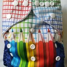 Большие скидки печати детские тканевые подгузники многоразовые карман тканевые моющиеся подгузники вставки лучшее качество