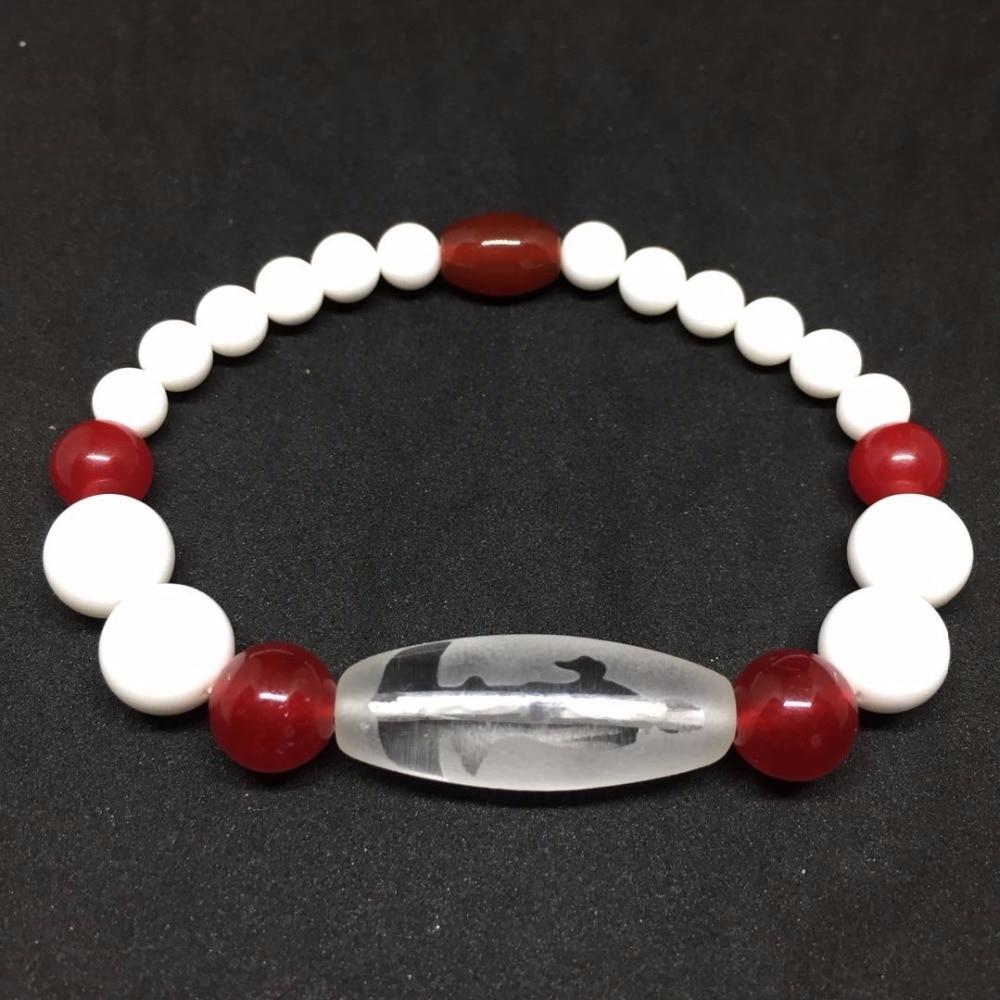 2018 New Arrival Tibet Dzi Ji Bracelet Crystal Beasd Bracelet with Red Agate and Tridacna Stone Free Shipping2018 New Arrival Tibet Dzi Ji Bracelet Crystal Beasd Bracelet with Red Agate and Tridacna Stone Free Shipping