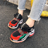 Tleni ladies high platform sneakers shoes 2018 fashion womens trainers zapatillas mujer platform running shoes women ZX 97
