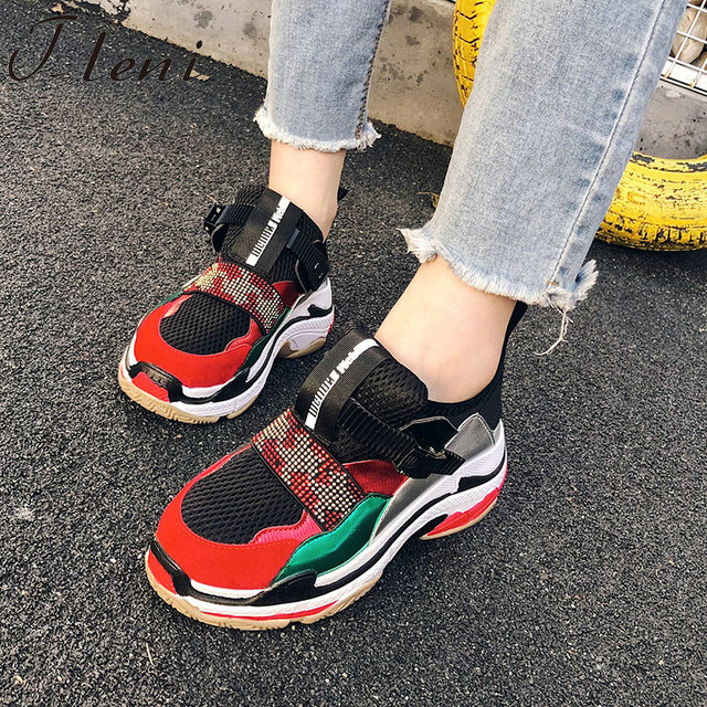 Tleni ladies high platform sneakers shoes 2018 fashion womens trainers  zapatillas mujer platform running shoes women ZX-97 c65ddad43