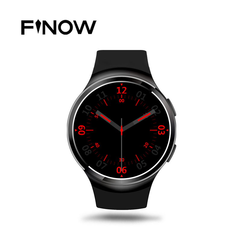 HOT Finow X3 Plus Smart Watch K9 Upgrade PK KW88 DM368 Android 5.1 MTK6580 1GB+8GB Quad Core Smartwatch Heart Rate iOS Android